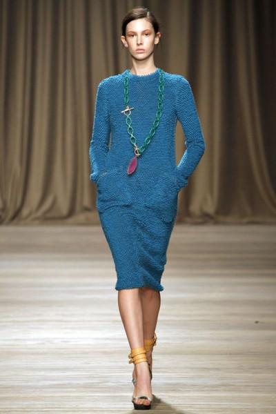 Вязаное платье синего цвета Iceberg