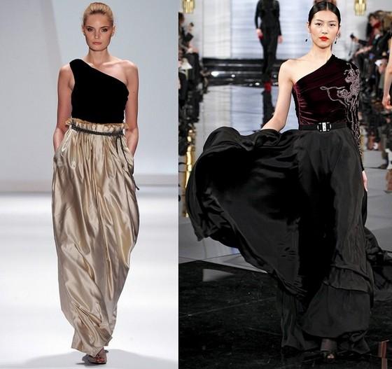 Вечерние платья из бархата, Carlos Miele и Ralph Lauren