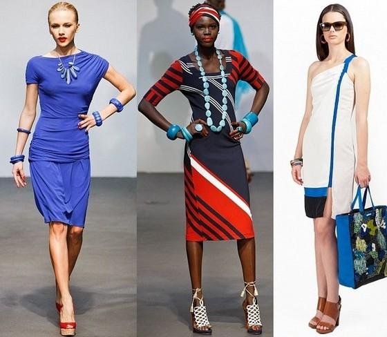 Платья лето 2012 - морской стиль