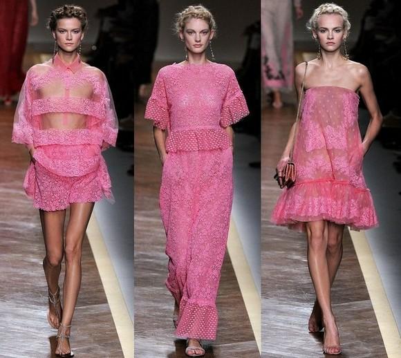Розовые платья 2012 от Валентино