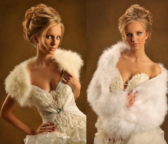 Накидки на свадебные платья фото