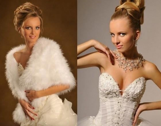 Накидки и украшения для свадебных платьев Оксаны Мухи