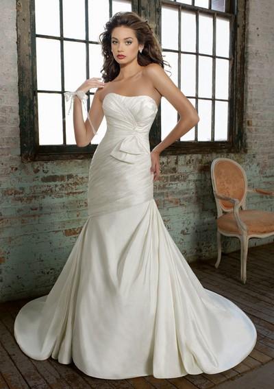 Свадебные платья русалка фото