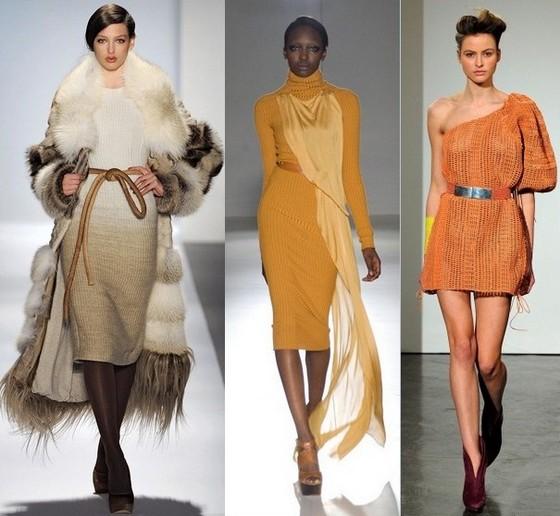 Вязаные платья – модели