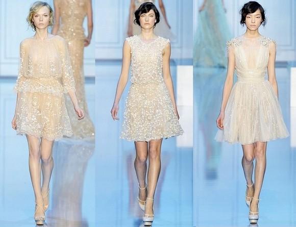 Короткие свадебные платья Весна-Лето 2012 от Elie Saab