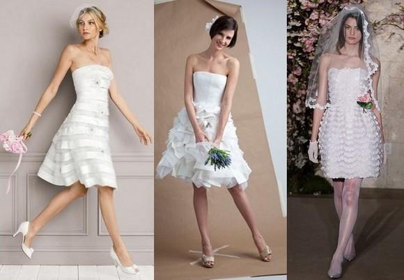 Свадебные прически под короткое платье
