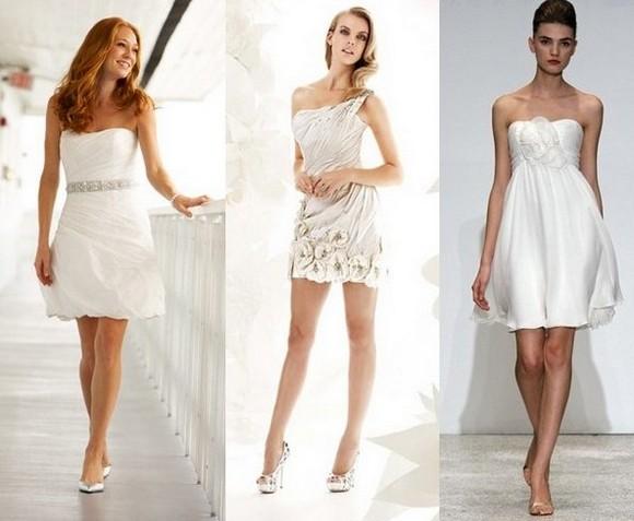 Свадебные короткие платья фото