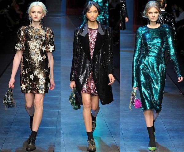 Яркие нарядные платья от Дольче Габбана