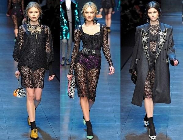 Кружевные платья Dolce&Gabbana