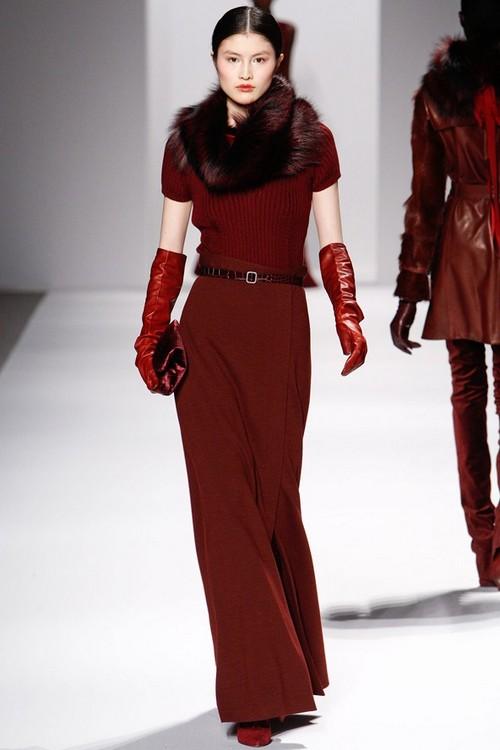 Платья с мехом Elie Tahari - коллекция Осень-Зима 2011-2012
