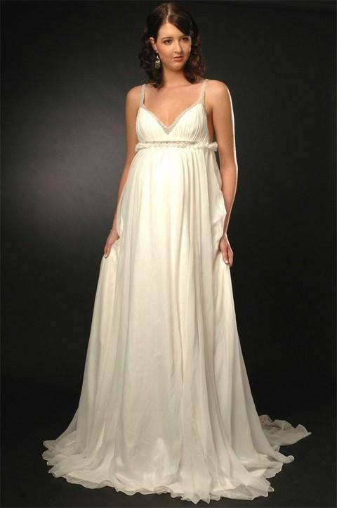 Свадебное платье для беременных 2011