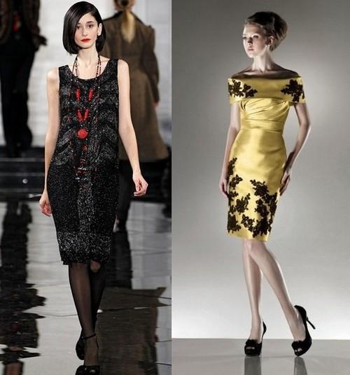 Новогодние платья 2012 для женщин-Весов