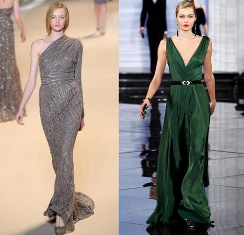 Вечерние платья зима 2011-2012, Elie Saab, Ralph Lauren
