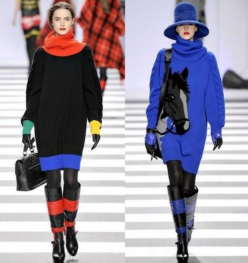 Модные вязаные платья зима 2012, Jean-Charles de Castelbajac