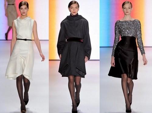 Модные платья зима 2012 от Каролины Эрреры