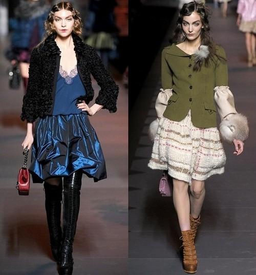 Теплые платья зима 2012, Christian Dior