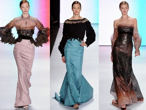 Вечерние платья зима 2011-2012 от Carolina Herrera