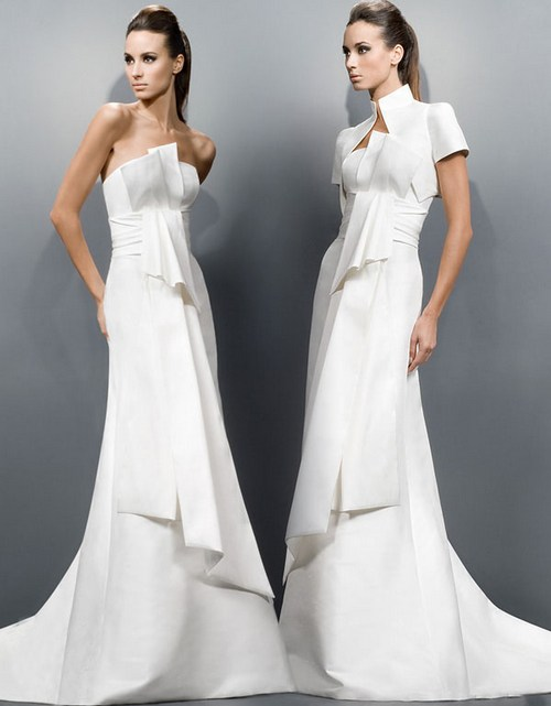 Свадебные платья зима 2012
