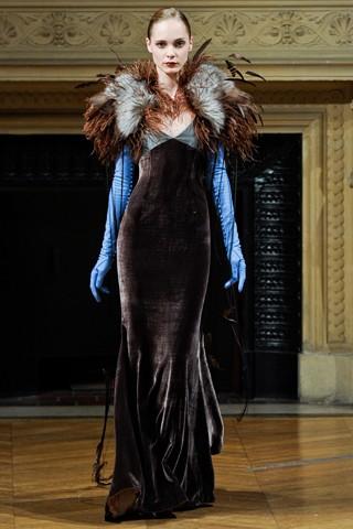 Теплые вечерние платья Alexis Mabille Осень-Зима 2011-2012