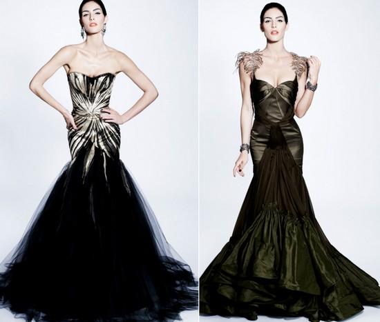 Черные свадебные платья зима 2012, Zac Posen