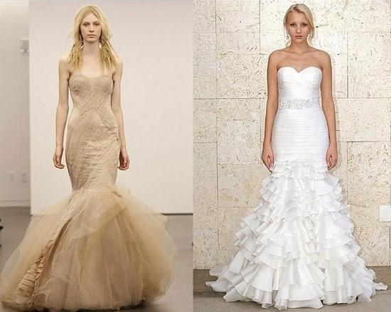 Зимние свадебные платья от Веры Вонг и Оскара де ла Ренты