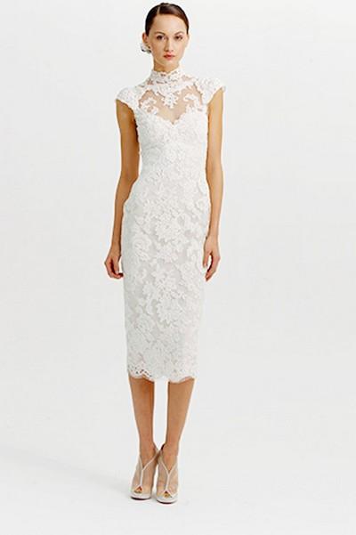 Короткое свадебное платье зима 2012, MARCHESA