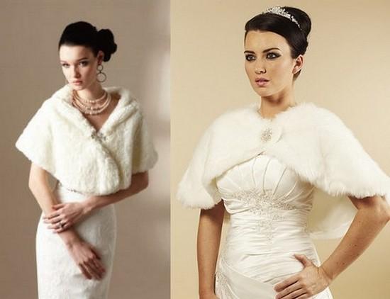 зимние свадебные платья фото