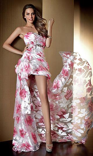 Выпускные короткие платья 2012 со шлейфом