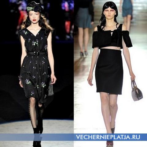 Черные платья Весна-Лето 2012 - Anna Sui и Miu Miu