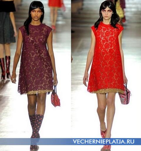 Кружевные платья 2012 от Miu Miu