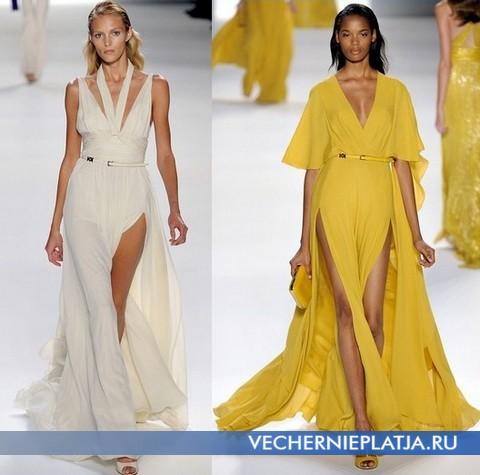 Летние длинные платья 2012 с разрезом - Эли Сааб