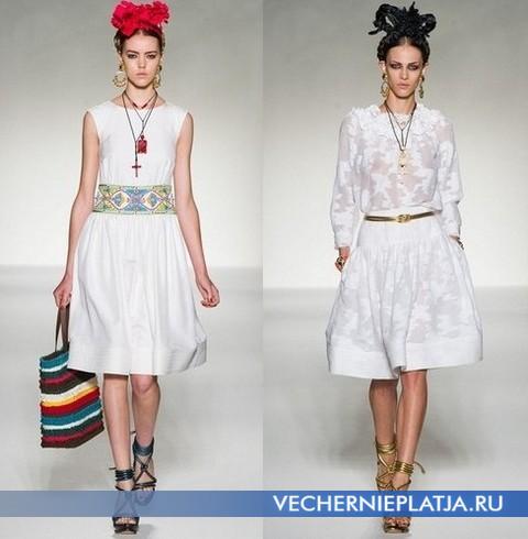 Модные платья от Moschino - коллекция Весна-Лето 2012