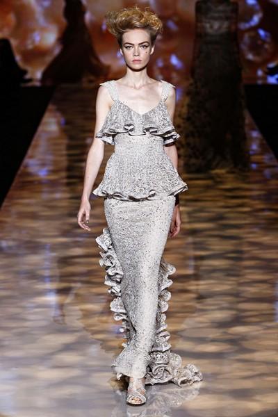 Вечернее платье в стиле ретро - коллекция весна-лето 2012 от Badgley Mischka