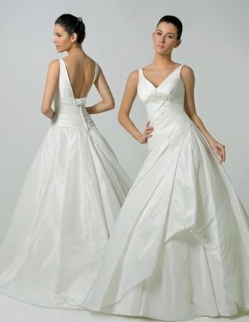 Длинные свадебные платья 2012