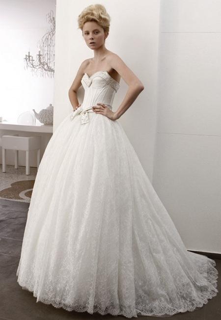Свадебное платье в стиле принцесса
