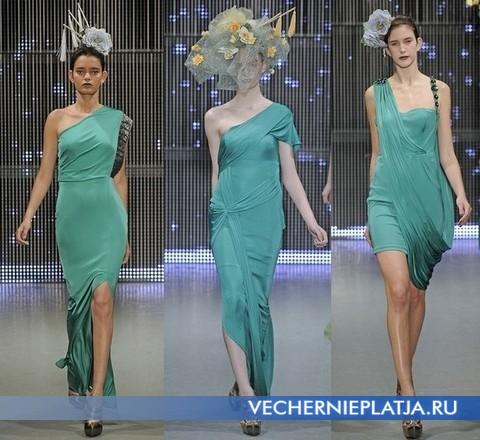 Платья зеленого цвета от Ashley Isham