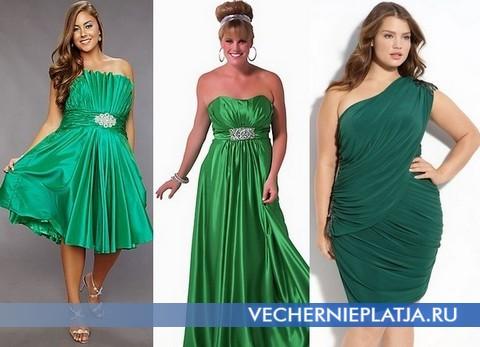 Зеленые платья для полных девушек