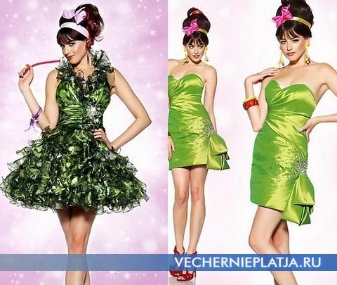 Короткие зеленые платья на выпускной