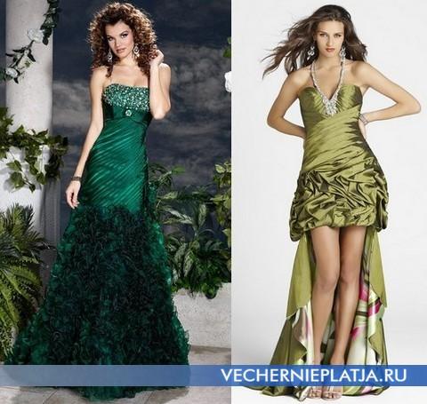 Зеленые платья на выпускной 2012