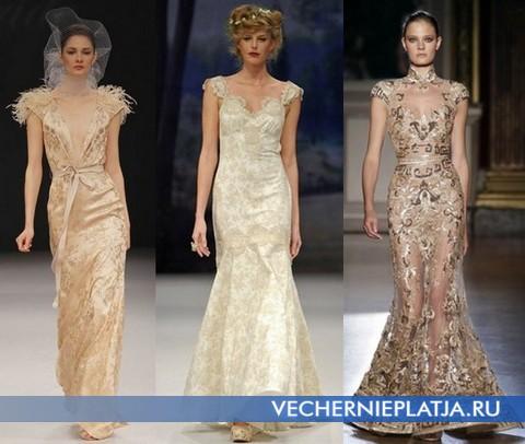 Золотые свадебные платья от Бадглей Мишка, Клэр Петтибон, Зухаир Мурад