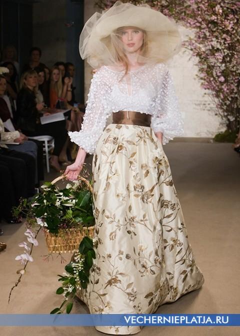 Свадебное платье с золотом от Оскара де ла Ренты, коллекция Весна-2012