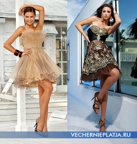 Золотые платья на выпускной 2012