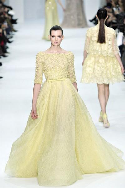 Желтые свадебные платья Эли Сааб