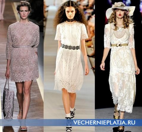 Кружевные платья 2012 от Valentino, Oscar de la Renta, Anna Sui