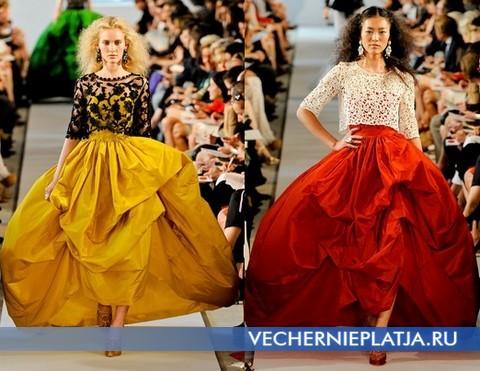 Длинные платья с кружевом 2012 от Оскара де ла Ренты