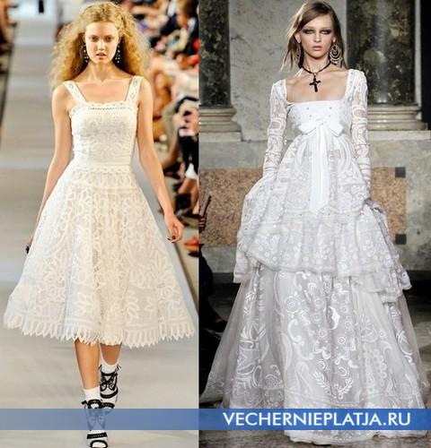 Кужевные белые платья 2012 от Oscar de la Renta, Emilio Pucci