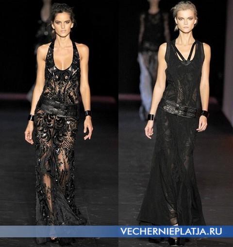 Черные ажурные платья 2012 от Roberto Cavalli