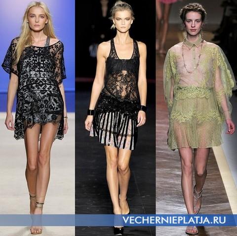 Короткие кружевные платья 2012 от Isabel Marant, Roberto Cavalli, Valentino