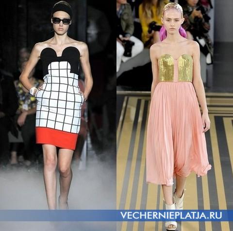 Платья бюстье от Jean-Charles de Castelbajac и TopShop Unique