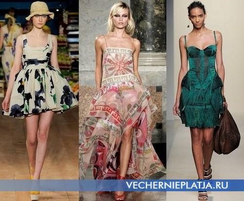 Платья-сарафаны с квадратным вырезом декольте Moschino Cheap & Chic, Emilio Pucci, Bottega Veneta